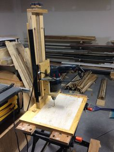 Picture of DIY Drill Press with Rubber Band Suspension