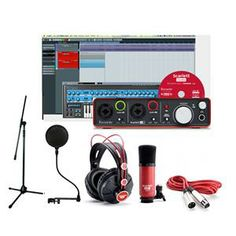 Astounding Home Recording Studio Kit With Focusrite 2I2 And At2020 Home Largest Home Design Picture Inspirations Pitcheantrous