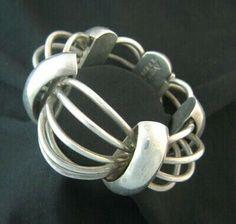 Bracelet | Antonio Pineda. Sterling Cosmos Birdcage Bracelet. Ca, 1953 ...