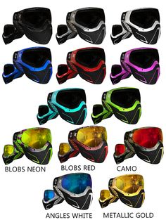 HK Army KLR Goggles in a number of colour combinations - all available for pre-order #paintballing #mask