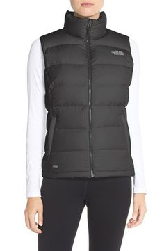 Main Image - The North Face Nuptse 2 Down Vest North Face Women, The North Face, North Face Nuptse, Women's Low Top Sneakers, Thin Waist, Black Down, Down Vest, Coats For Women, Casual Outfits
