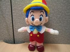 Cute little Pinocchio crochet amigurumi created by a wonderful Japanese crochet artist! More Patterns Like This!