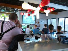 24 juni: luisteren naar een presentatie van leerlingen van het technasium Dingstede