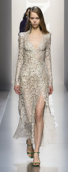 Ermanno Scervino Fall-winter - Ready-to-Wear Style Couture, Couture Fashion, Runway Fashion, Milan Fashion, Lace Dress, Dress Up, Italian Fashion Designers, Ermanno Scervino, Costume