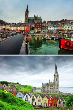 Cobh, County Cork, Ireland! Click through to see some of the most colorful cities in the world! This post does not contain industrial soot stained cities; instead it showcases some of the most vibrant looking cities in the world.
