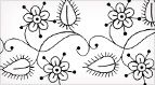 Flower Border (Linea) - actually for embroidery, but would translate well to doodling for scrapbookers.