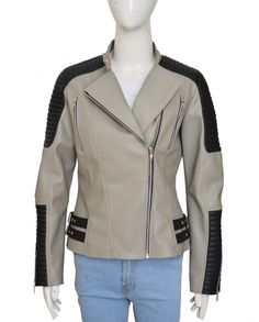 christian serratos walking dead leather jacket