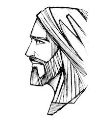Jesus christ face pencil illustration stock vector art & more images Jesus Christ Drawing, Jesus Drawings, Pencil Drawings Of Girls, Jesus Art, Art Drawings, Catholic Art, Religious Art, Croix Christ, Jesus Sketch