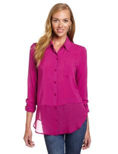 BCBGeneration Women's Contrast Hem Shirt BCBGeneration. $41.17. This shirt has a sheer contrast hem.. rayon. Hand Wash. Made in Vietnam. This shirt has a pocket at the bust.
