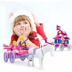 Girls Minifigure Princess Horse Carriage Educational Toys Building Blocks Bricks #Unbranded