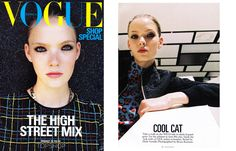 VOGUE Australia Simona Antonovic make-up /  black eyeliner