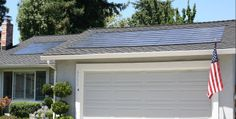 solar above garage Energy Saving Tips, Save Energy, Alternative Energy, Solar, Garage Doors, Outdoor Decor, Home, Ad Home, Homes