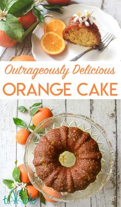 Business Cookware Ought To Be Sturdy And Sensible Amazingly Flavorful Orange Bundt Cake Surrounded By Oranges, Orange Tree Branches, And Orange Blossoms. Delicious Desserts, Dessert Recipes, Awesome Desserts, Awesome Food, Awesome Cakes, Party Desserts, Holiday Desserts, Dessert Ideas, Dinner Recipes