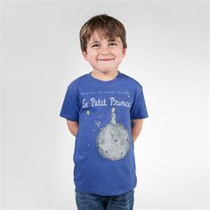Soft book cover children's t-shirt of The Little Prince by Antoine de Saint-Exupery. Purchase of this kids' tee sends one book to a community in need.