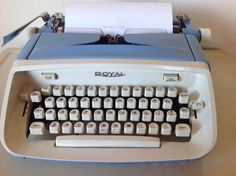 The office by Ryan Reid and Matthew Staples on Etsy Retro Typewriter, Typewriters, Professional Cleaning, Baby Blue, 1960s, Safari, Manual, Blue And White, Collections