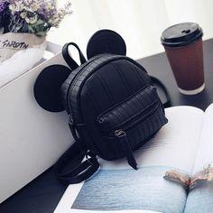 Mickey ear backpack for teenage girls small mouse girl back pack cute mini korea bagpack cartoon design backpacks