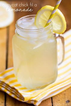 Copycat Chick fil A Lemonade