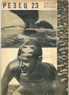 Original 1930 yea magazine Photomontage  Russia avant-garde cover USSR Rodchenko