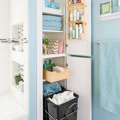 Bathroom Closet Organization | Home Improvement | Pinterest