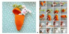 Peekaboo! It's a tiny Easter bunny inside a crochet carrot! This Crochet Carrot Surprise Easter Bunny is a fun way to deliver the Easter holiday spirit, and to deliver the Easter candy too! It is perfect for your Easter decorations, if you have any little ones that can't wait for the Easter bunny!