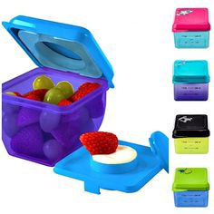 Fit and Fresh Little Dipper Kids Snack Container- A healthy snack and a yummy dip in one handy spot! No mess, no fuss and a lot of fun! Yes, the Fit & Fresh™ Little Dipper Snack Container makes snacking and school lunches a lot of fun.