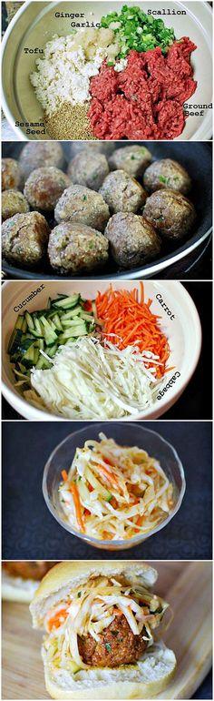 Korean Meatball Sliders