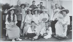 Tsar Nicholas II and his family with the Romanian Royal Family