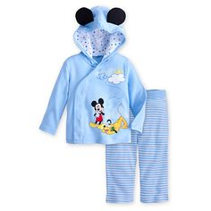 Mickey Mouse and Pluto Hoodie with Pants Set for Baby   Sets   Disney Store