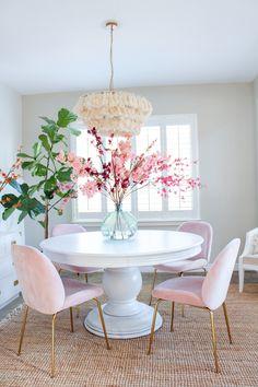 Decor, Pink Home Decor, House Interior, Dinning Room, Living Room Decor, Home Decor, Dining Room Decor, Home Decor Accessories, Apartment Decor