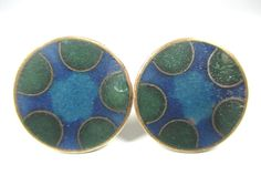 Stegemaille Manschettenknöpfe Vintage 30er Schibensky enamel cufflinks x12 N4