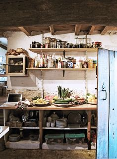 Kathryn Ireland Opens Up About Her Provence Getaway// pantry, rustic kitchen, farm kitchen, French country awesome kitchens Farm Kitchen Ideas, Country Kitchen, Eclectic Kitchen, Kitchen Interior, Kitchen Decor, Kitchen Pantry, Kitchen Design, French Country House, French Farmhouse