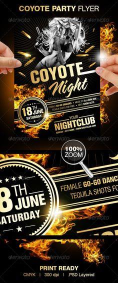 Summer Party (Flyer Template 4x6) Pinterest Flyer template