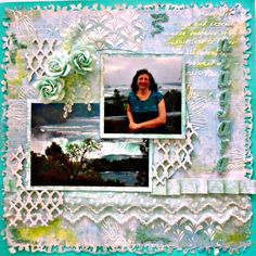 Scraps of Elegance scrapbook kits: Lynne Joncas created this beautiful shabby chic layout with our Mallika's Whimsy kit. Find our kits here: www.scrapsofdarkness.com