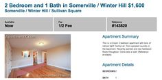 "$1600 / 2br – *~*~*WINTER HILL WINNER*~*~*HW FLOORS*~*~*LAUNDRY*~*~*~  Note the alluring dance that the asterisk and the tilde play. Then once you get INTO the listing — well your life just changes. I believe ""tons of natural light"" is close to — but not quite as impressive as — ""drenched in sun."""