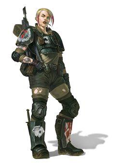 warhammercomplete:  Necromundan 'Lucky 7th' Trooper by DiegoGisbertLlorens