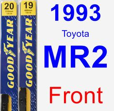 Front Wiper Blade Pack for 1993 Toyota MR2 - Premium