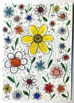 MALGRAT TOT ÉS PRIMAVERA ALS #DOMINGOSILUSTRADOS. | Les Antònies Printing On Fabric, Drawings, Flowers, Prints, Spring, Fabric Printing, Sketches, Drawing, Royal Icing Flowers