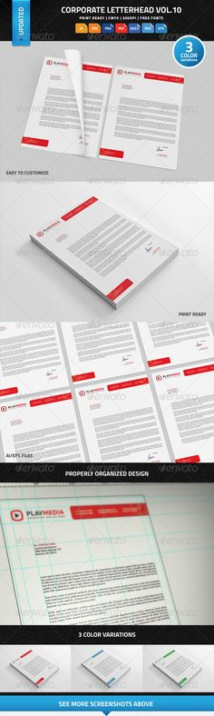 Corporate Letterhead Vol10 With MS Word DOC DOCX