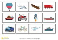 تصنيف وسائل المواصلات ارض بحر جو قص ولصق نشاط مطبوع Cards Decor Holiday Decor