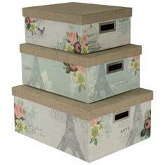 $35 Prime Amazon.com   Nested Steamer Box / Storage Box With Burlap Lid (