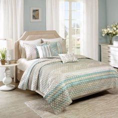 Home Essence Brooke Quilted Coverlet Set, Multicolor