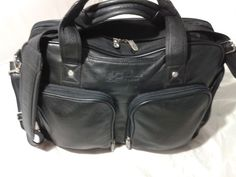 Cutter & Buck Performance Series Executive  Leather Briefcase Laptop Bag  #CutterBuck #BriefcaseAttache