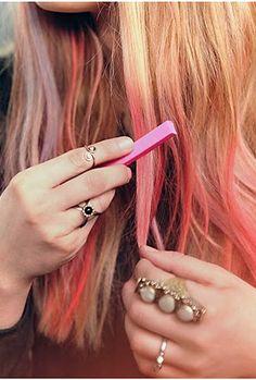 We Love Hair Chalk. #beauty #hair