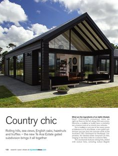 Modern Barn House, Barn House Plans, Modern House Design, Barn House Design, Metal Building Homes, Building A House, Shed Homes, Forest House, Facade House