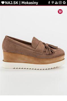 Hnedé mokasíny na platforme Corina Moccasins, Gucci, Flats, Shoes, Fashion, Penny Loafers, Loafers & Slip Ons, Moda, Loafers