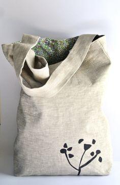 Gorgeous Linen Market Bag / Buy Four !