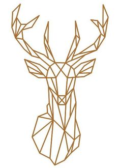 Geometric Deer Head Wall Sticker