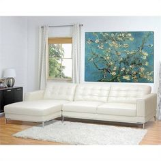 Lowest price online on Baxton Studio Babbitt Ivory Leather Modern Sectional Sofa Modular Sectional Sofa, Leather Sectional Sofas, Modern Sectional, Modern Sofa, Couches, Best Sectionals, Loveseats, Modern Leather Sofa, Affordable Modern Furniture