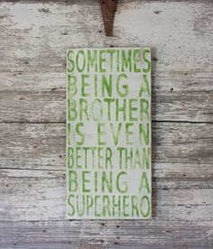 "Hand Painted Sign - 12""x24"" made to order Superhero Sign"