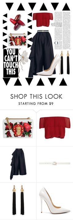 """""""xoxo"""" by e-memagic ❤ liked on Polyvore featuring Dolce&Gabbana, Keepsake the Label, Solace, Dorothy Perkins, Yves Saint Laurent and Jimmy Choo"""